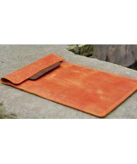 Кожаный чехол для Macbook C009 рыжий