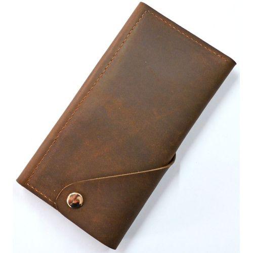 Кожаное портмоне W.0001-CH коричневое