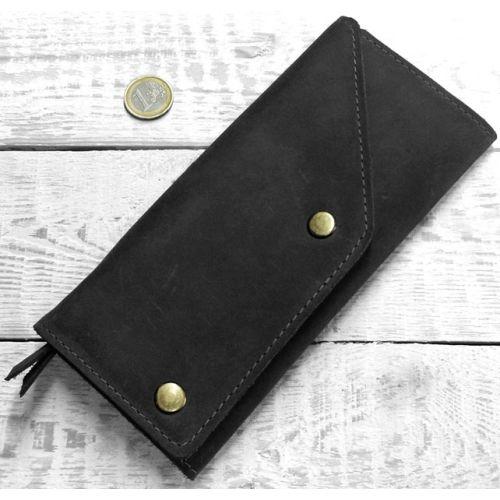 Кожаное портмоне W.0002-CH черное