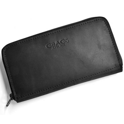 Кожаное портмоне винтаж W.0003 черное