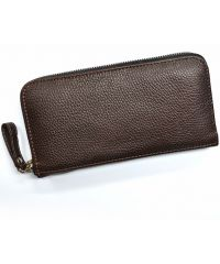 Кожаное портмоне W.0003 коричневое