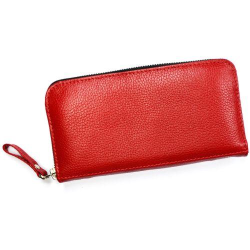 Кожаное портмоне W.0003 красное