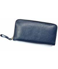 Кожаное портмоне W.0003 синее