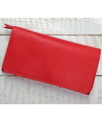 Кожаное портмоне W.0009-ALI красное