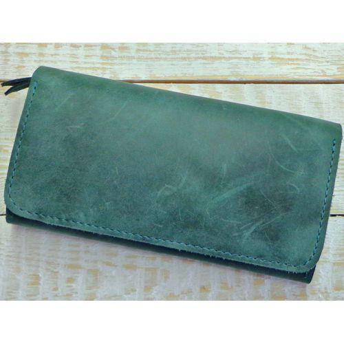 Кожное портмоне W.0009-ALI зеленое