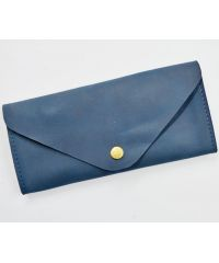 Кожаное портмоне W.0010-ALI синее