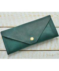 Кожаное портмоне W.0010-ALI зеленое
