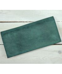 Кожаное портмоне W.0011-ALI зеленое