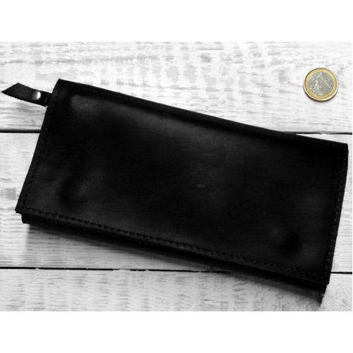 Кожаное портмоне W.0011-CH черное