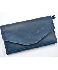 Кожаное портмоне W.0012-CH синее