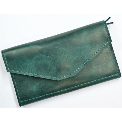 Кожаное портмоне W.0013-ALI зеленое