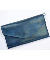 Кожаное портмоне W.0013-CH синее