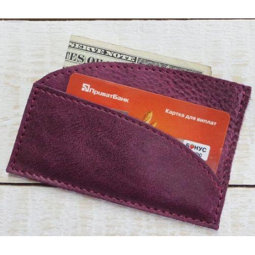 Кожаный кошелек - картхолдер W.003-ALI фиолетовый