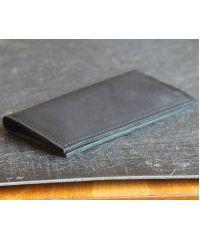 Кожаное портмоне W011 черное
