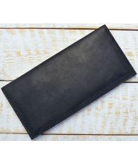 Кожаное портмоне W013 черное