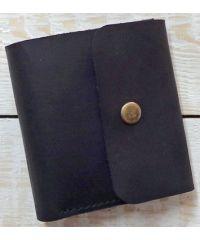 Кожаное портмоне W019 черное