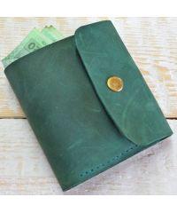 Кожаное портмоне W019 зеленое