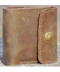 Кожаное портмоне W019 коричневое