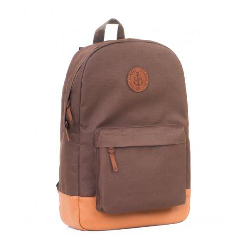 """Рюкзак GIN """"Бронкс XL"""" коричневый с рыжим"""
