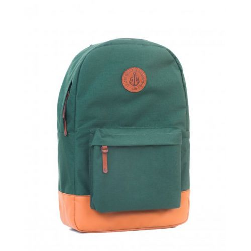 "Рюкзак GIN ""Бронкс XL"" зеленый с рыжим"