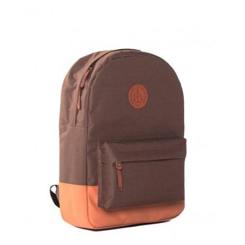 """Рюкзак GIN """"Бронкс"""" коричневый с бежевым"""