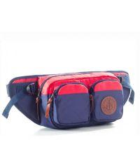 "Поясная сумка GIN ""Дакота"" синяя с красным"