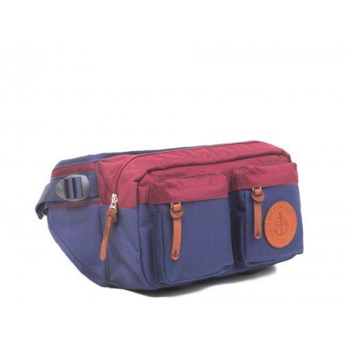 """Поясная сумка GIN """"Дакота"""" синяя с вишневым"""