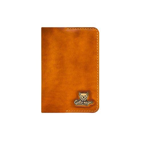 Обложка для паспорта Gato Negro Alfa оранжевая