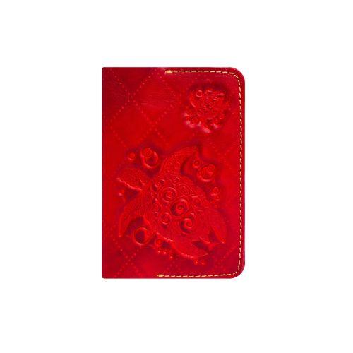 Обложка для паспорта Gato Negro Turtle-X красная