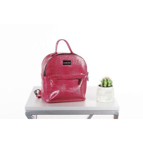 Сумка-рюкзак HARVEST XS croco strawberry малиновая