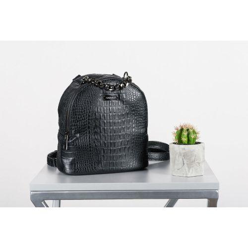 Сумка-рюкзак HARVEST кроко черная