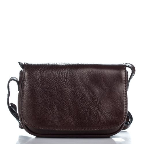 Женский кожаный клатч 119518 коричневый Италия