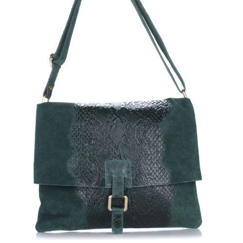 Женский кожаный клатч 1252 зеленый Италия