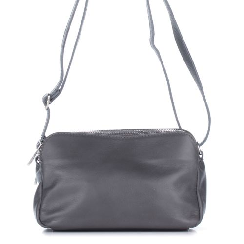 Женский кожаный клатч 1256 серый Италия