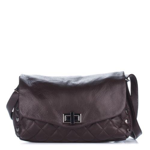 Женский кожаный клатч 1282 темно-коричневый Италия