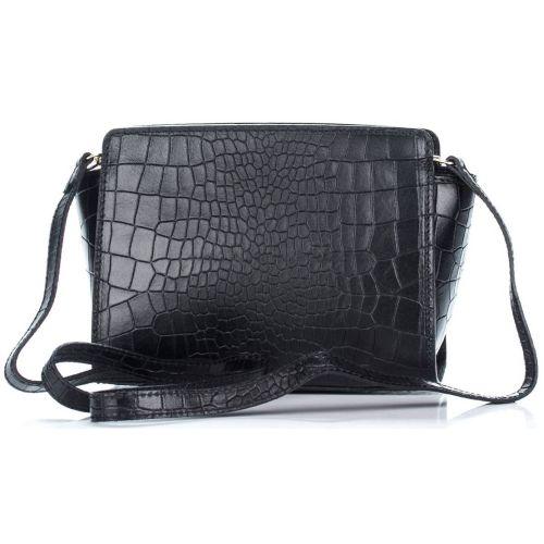 Женский кожаный клатч 12866 черный Италия