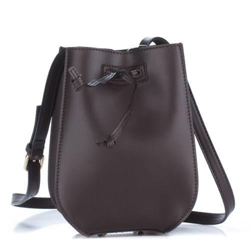 Женский кожаный клатч 1293-1 шоколадный Италия