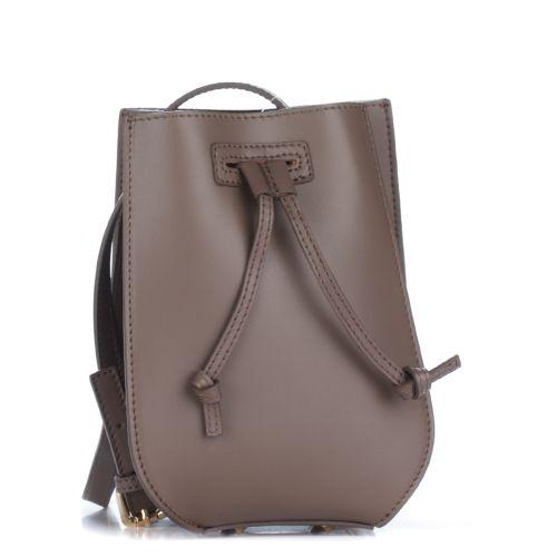 Женский кожаный клатч 1293-1 темно-серый Италия
