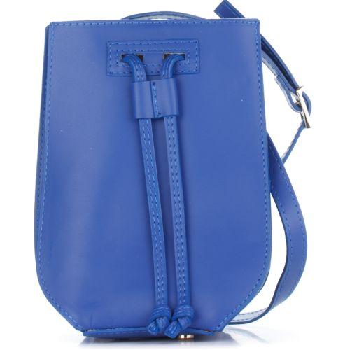 Женский кожаный клатч 1293 синий Италия