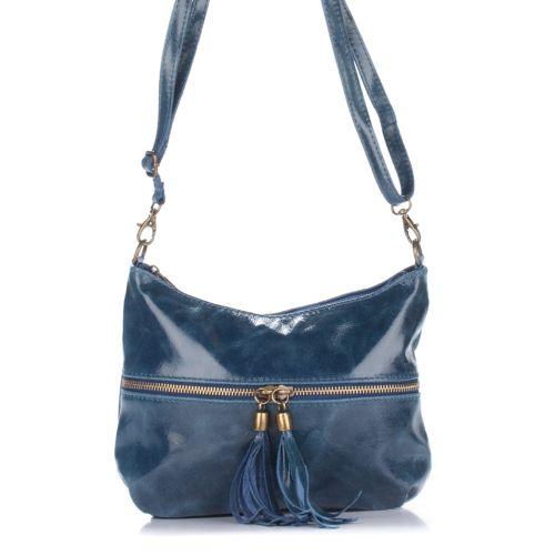 Женский кожаный клатч 1300 синий Италия
