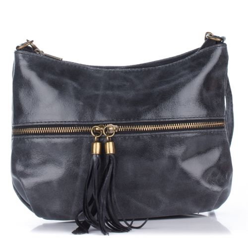 Женский кожаный клатч 1300 серый Италия