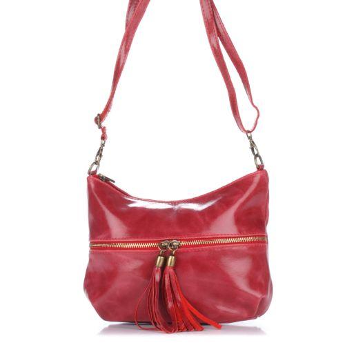 Женский кожаный клатч 1300 красный Италия
