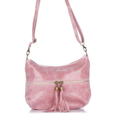 Женский кожаный клатч 1300 розовый Италия