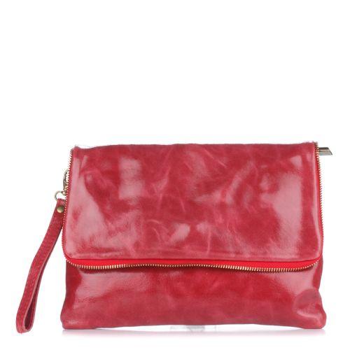 Женский кожаный клатч 1302 красный Италия