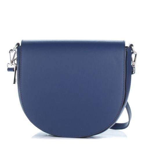Женский кожаный клатч 1307 синий Италия