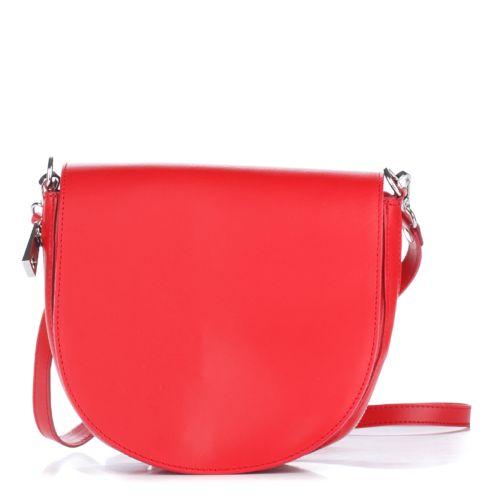 Женский кожаный клатч 1307 красный Италия