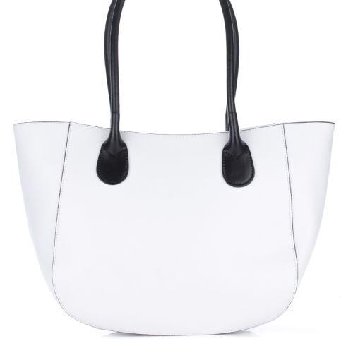 Женская кожаная сумка 1698 белая Италия