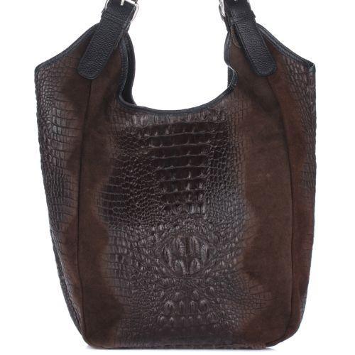 Женская кожаная сумка 17901 коричневая Италия