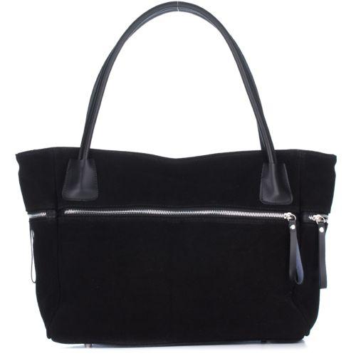 Женская замшевая сумка 1891 черная Италия