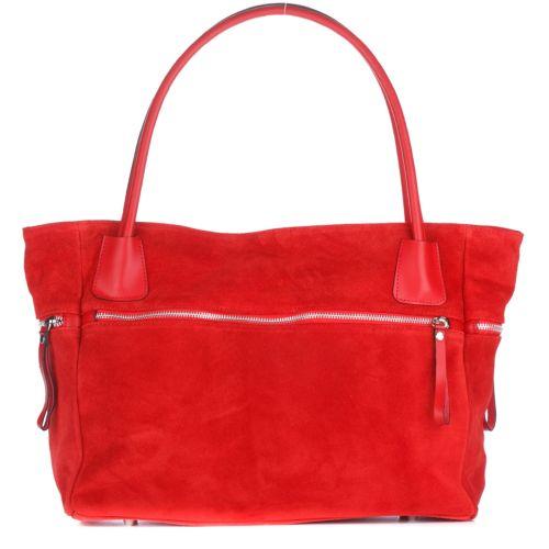 Женская замшевая сумка 1891 красная Италия